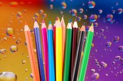 Many crayons Stock Photo