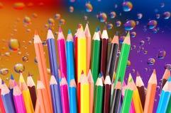 Many crayons Royalty Free Stock Photo