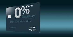 Free Many Credit Card Offers Now Include Zero Percent Annual Percentage Rate For 12-15 Months And This Generic Mock Card Illustrates Royalty Free Stock Image - 133418396