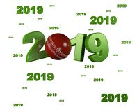 Many Cricket 2019 Designs. With a White Background Stock Images
