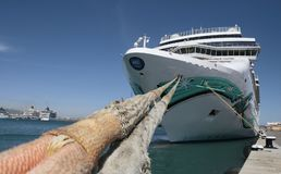 Cruise ships in palma de mallorcas port wide royalty free stock images