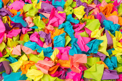 Many crumpled colored paper background Stock Images