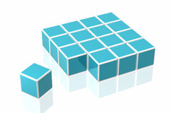 Many cubes Stock Photos