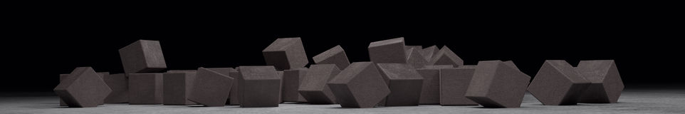 Many cubes from light concrete Stock Photography