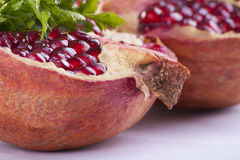 Pomegranat close-up Royalty Free Stock Images