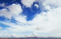 Many cumulonimbus cloud before raining with blue sky Royalty Free Stock Image