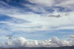 Many cumulonimbus cloud before raining with blue sky Stock Image