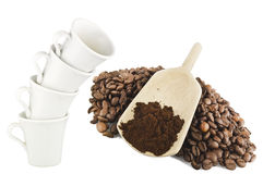 Many Cup of coffee Royalty Free Stock Photos