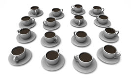 Many Cups of coffee Royalty Free Stock Photo