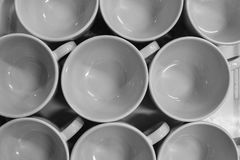 Many cups. Stock Image