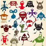 Many cute doodle monsters Royalty Free Stock Photos