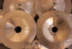 Many cymbals Stock Photography