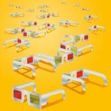 Many 3d glasses Stock Image