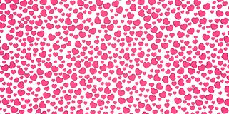 Many 3D purple pink Hearts Shapes on a white background Stock Image