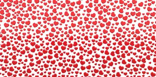 Many 3D red Hearts Shapes on a white background Stock Images