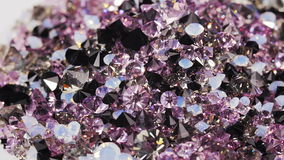 Many dark purple diamond stones background, loop ready stock video