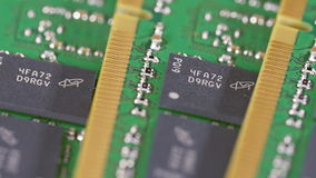 Many DDR4 computer memory modules (RAM) stock video footage