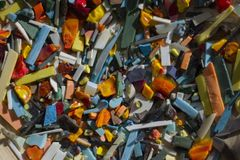 Many debris and various small stones scattered royalty free stock photo