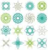 Many decorative elements Stock Photography