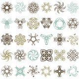 Many decorative elements, vector Stock Photo