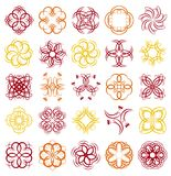 Many decorative elements, vector Royalty Free Stock Photo