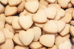 Many delicious heart shaped cookies Royalty Free Stock Photography