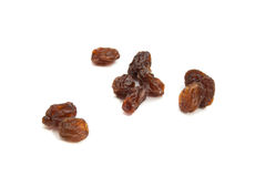 Many delicious raisins. Group of raisins on white background closeup Royalty Free Stock Photography