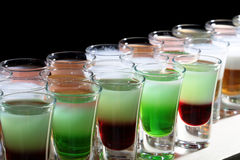 Many delicious shooters cocktail Stock Photo