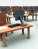 Many Desks With Chairs 4 Stock Photography
