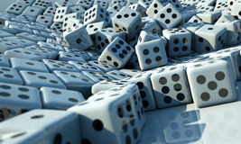 Many Dice Royalty Free Stock Photo