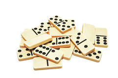 Many of the dice dominoes Royalty Free Stock Photos