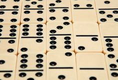 Many of the dice dominoes Stock Photos
