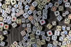 Many dice on a table Stock Image