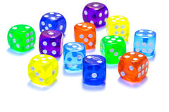 Many dices. Stock Image