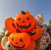 Many different balloons for the Halloween party stock photography
