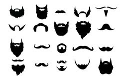 Beard and Mustache Vectors vector illustration