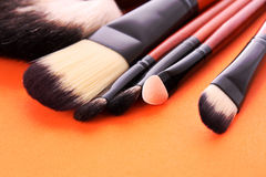 Many different brushes Stock Image