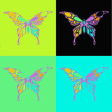 Many different butterflies flying, Royalty Free Stock Image