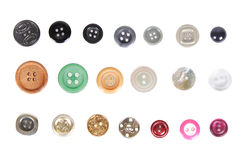 Many different buttons isolated Stock Photography