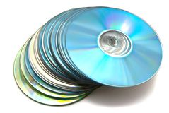 Many different cd's Royalty Free Stock Image