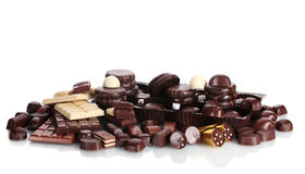 Many different chocolate candy Stock Photography