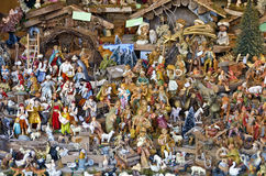 Many different Christmas crib figures Royalty Free Stock Photo