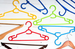 Many different clothes hangers Royalty Free Stock Image