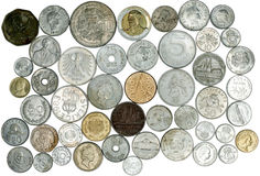 Many different coin Stock Photos