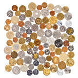 Many different coins collection Royalty Free Stock Photography