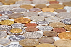 Many different coins collection Royalty Free Stock Photos