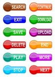 Many different colored buttons. As illustrations for you Stock Image