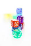 Many different colored dice Stock Image