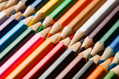 Many different colored pencils Stock Photo