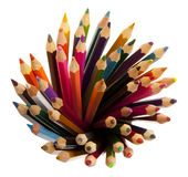 Many different colored pencils Royalty Free Stock Image